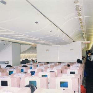 【旅先スケッチ】3クラス時代のJAS機(日本エアシステム)機内