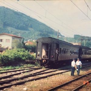 【鉄道スケッチ】1989年・大井川鐵道でのロケ列車から