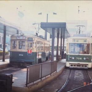 【鉄道スケッチ】1991年(平成3年)の広島駅前にて