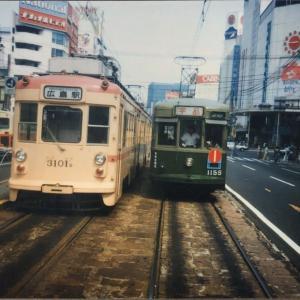 【鉄道スケッチ】広島の路面電車から(1986年撮影)