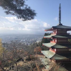 【旅先スケッチ】新倉山浅間公園からの風景