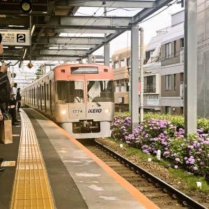 【鉄道スケッチ】西永福駅に入線してくる井の頭線