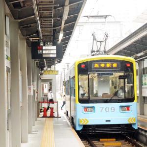 【鉄道スケッチ】天王寺駅前で発車を待つ阪堺電車