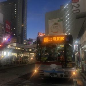 【バススケッチ】渋谷駅前にてレトロ塗装車
