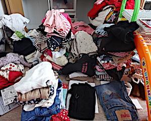 大量すぎる子ども服との格闘。自分でできる、子ども部屋の収納Part1