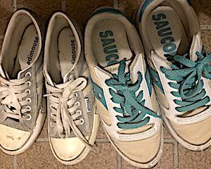 【捨】使わず取っておく無駄。と現在の靴の数。さっさと捨てればいいのにと自分でも思う。