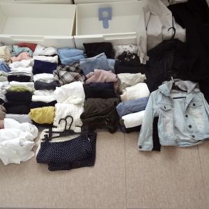 服を処分。現在の全ワードローブ数。衣替えに合わせて。外出着編。