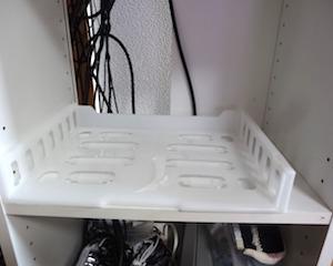 ダイソーのジョイントA4ラック横型でカラーボックスを整理