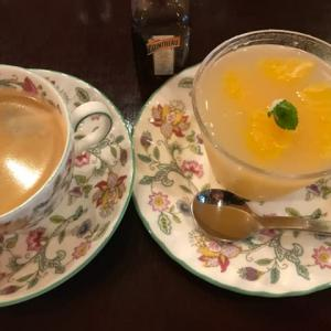 甘夏のグレープフレーツ果汁寄せ・・・今日のデザート