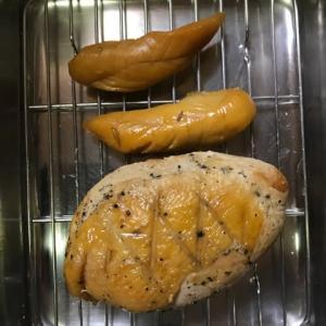 鶏肉の燻製・・・低温調理の後で