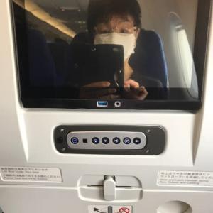 機内の人・・・留守宅管理で上京