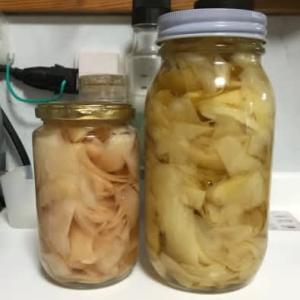 今年も新生姜の甘酸漬けを作る・・・2種類の生姜で