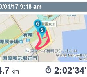 LSD120分走と一月の富士山