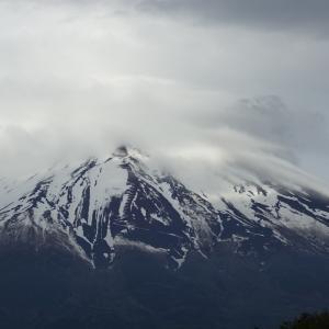 今日の富士山と昨日の富士山
