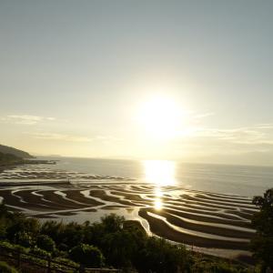 御輿来海岸の夕陽