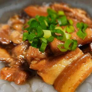 ぶたの角煮丼 ~ぶたの角煮、崩れ肉を濃いめの味で丼に~