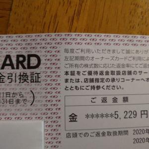 【株式投資】イオンから届いた優待返金引換証。