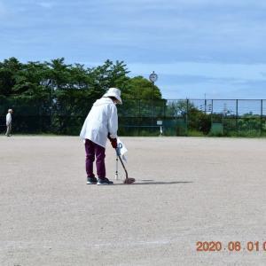 暑い今日も、元気にグランド・ゴルフ。
