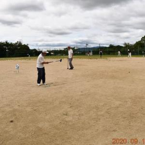 秋の気配の爽やか今日、グランド・ゴルフ仲間(26人)とプレーを楽しんだ。