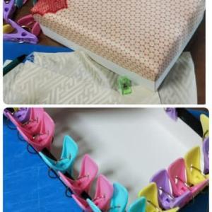 またまた和布で箱作してます(^^;