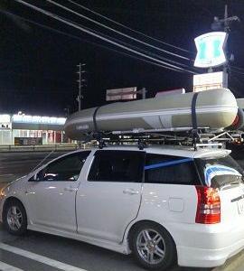 インフレータブルボートカートップ化その後