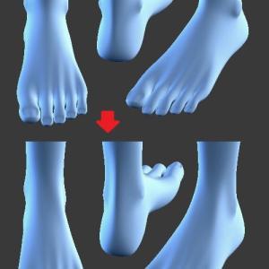 次は足[Blender 3DCG]