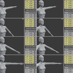 肩のポージングは難しい[Blender 3DCG]