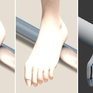 足の指が器用になった?[Blender 3DCG]