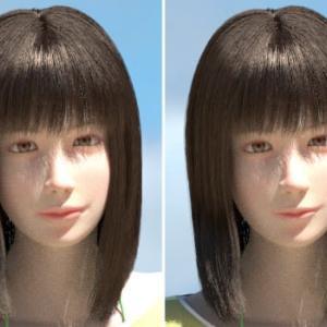 微笑んだ唇2[Blender 3DCG]