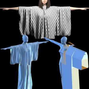 浴衣を作ろう3[Blender 3DCG 女の子]
