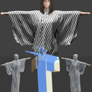 浴衣を作ろう4[Blender 3DCG 女の子]