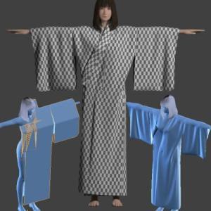 浴衣を作ろう5[Blender 3DCG 女の子]