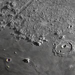 月面撮影:アルプス付近をPhotomergeしてみた♪