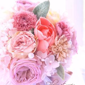 結婚おめでとうございます!念願のウェディングブーケ作り。