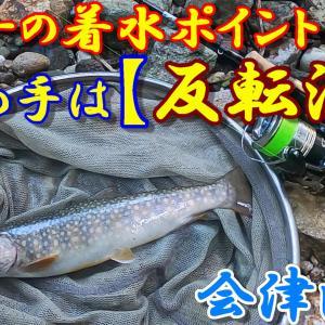 会津渓流 ルアーの着水ポイント!決め手は【反転流】