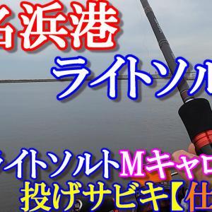 2021年 小名浜港(夏・海釣り)ライトソルト!今、豆アジが釣れてます。「M-caroアジング仕