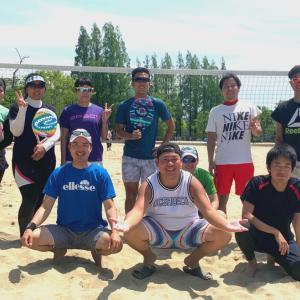 GW最後のビーチテニス練習会