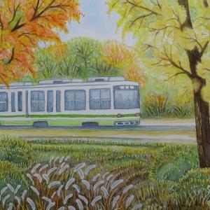 広島 路面電車のある風景