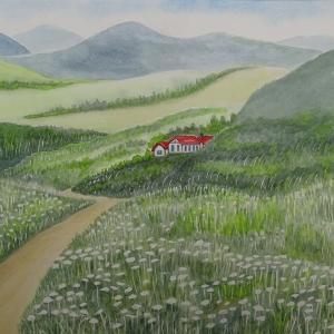 花咲く中国山間地を行く