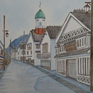 白壁の街並み 上下町