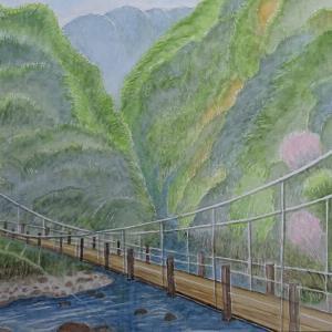 春の峡谷を行く №2