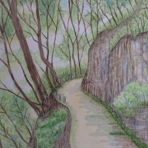 春の峡谷を行く №3