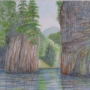 新緑の峡谷 三段峡 黒淵