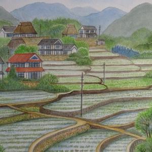 中国山間地区 里山棚田を行く