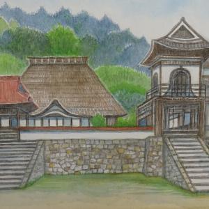 津和野 永明寺(№2) 茅葺きの本堂