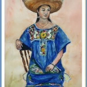 メキシコ民族衣装の女性  (1907)