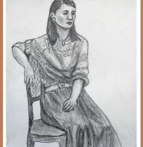 お出かけ着の女性  (1811)
