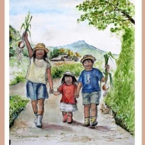 元気な子供と作物(2007)