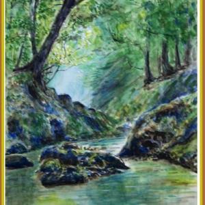 新緑の森と清流 (2105)