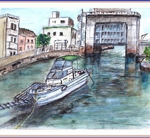 築島水門&漁船  (1905)